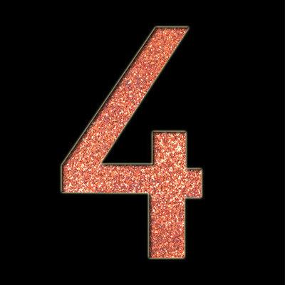 Large Number '4' Stencil