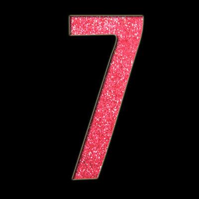 Large Number '7' Stencil