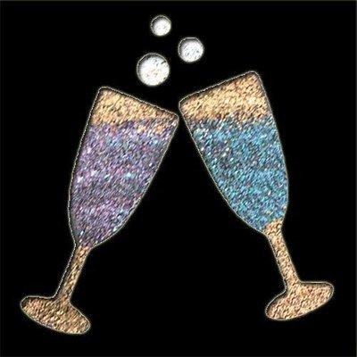 Wine Glasses Stencil