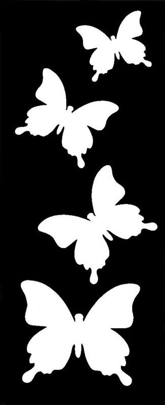 Butterfly Trail Stencil