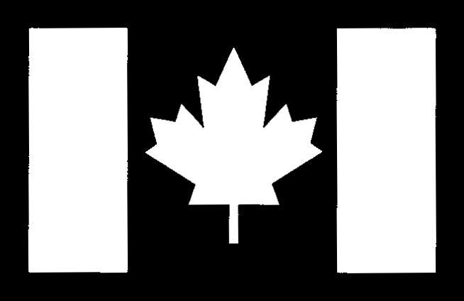 Canada Flag Stencil