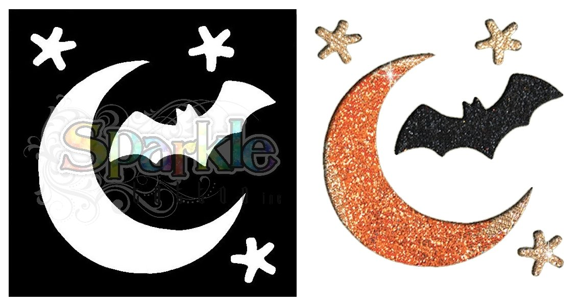 Moon & Bat Stencil