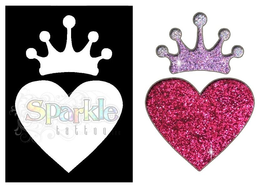 Heart With Crown Stencil