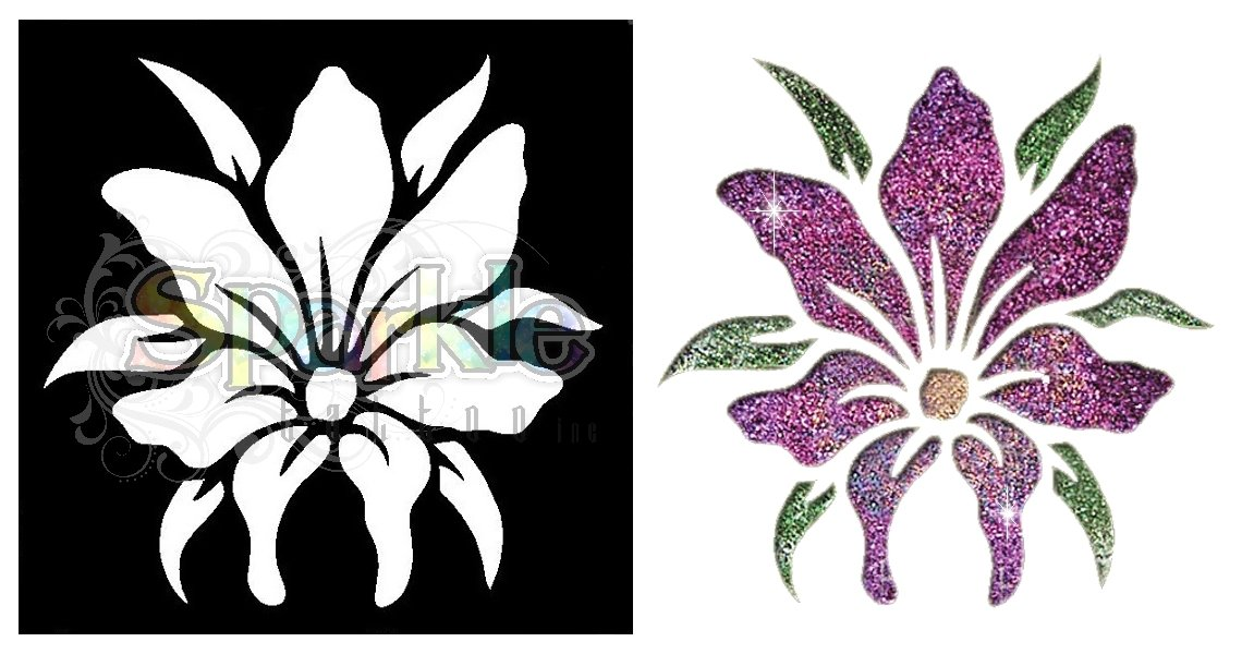 Small Lily Stencil