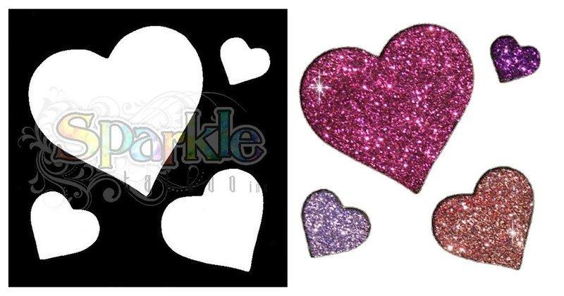 Hearts Stencil