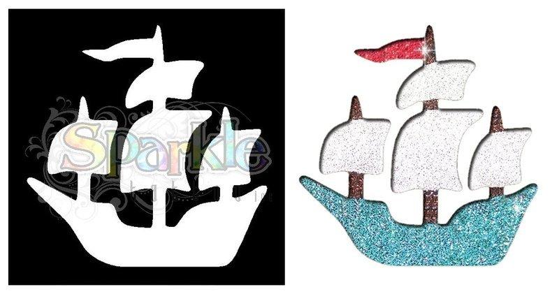 Pirate Ship Stencil