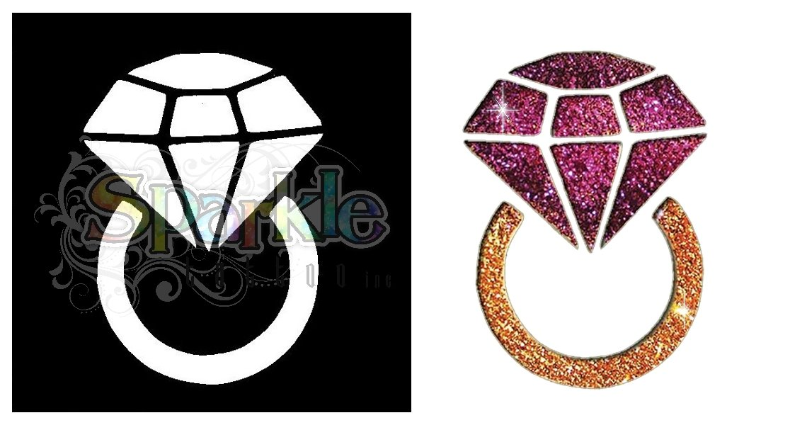 Diamond Ring Stencil