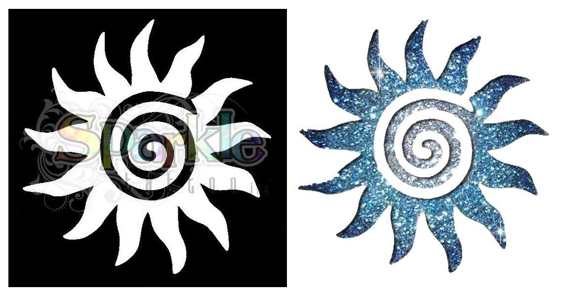 Sun Swirl Stencil