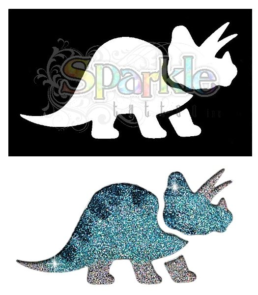 Triceratops Stencil