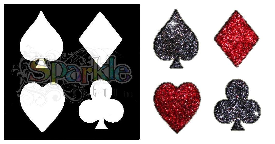 Card Suits Stencil