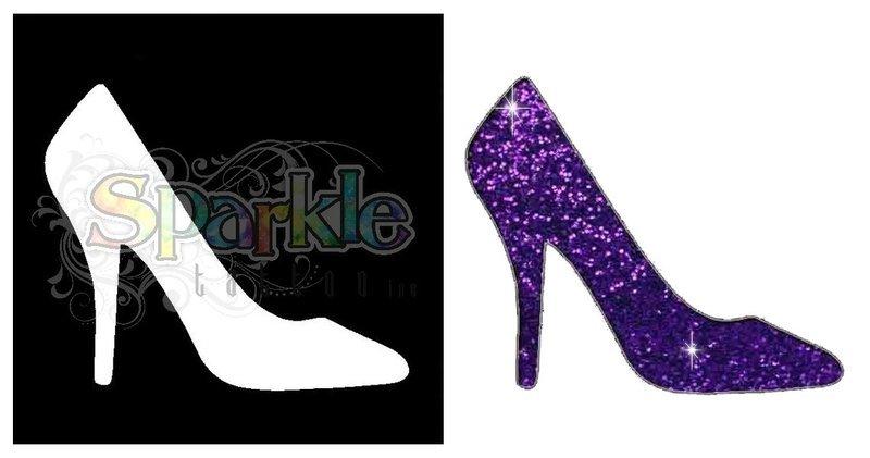 High Heel Shoe Stencil