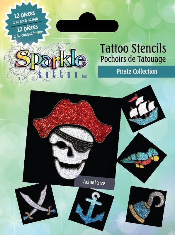 Buy Any 2 Get 3rd FREE!  Pirate Stencil Collection