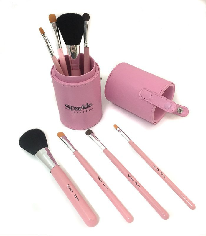 Pink Brush Set with Case