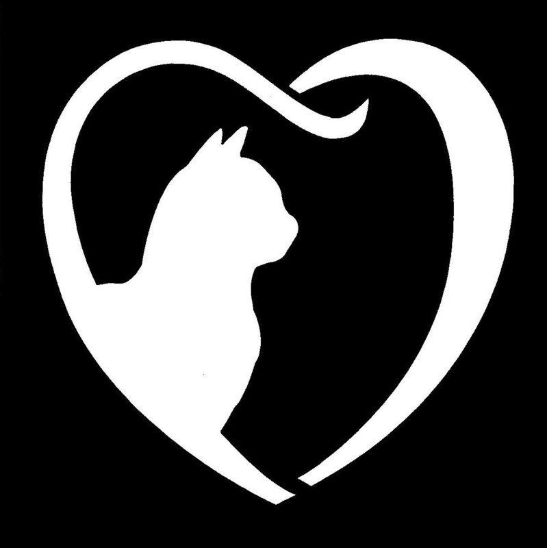 Cat Heart Stencil