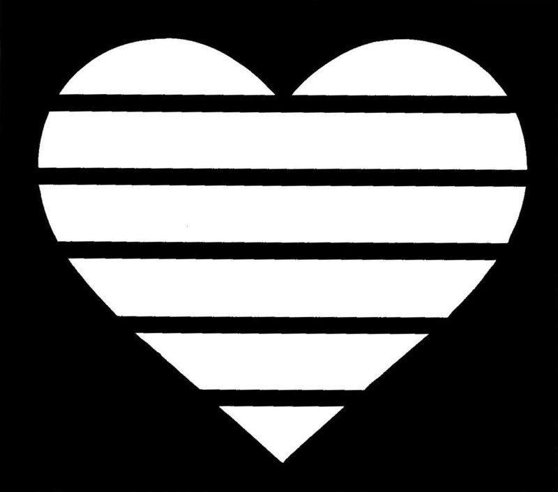 Rainbow Heart Stencil