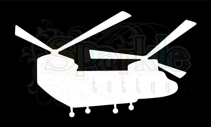 Chinook Helicopter Stencil