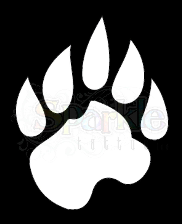 Bear Paw Stencil