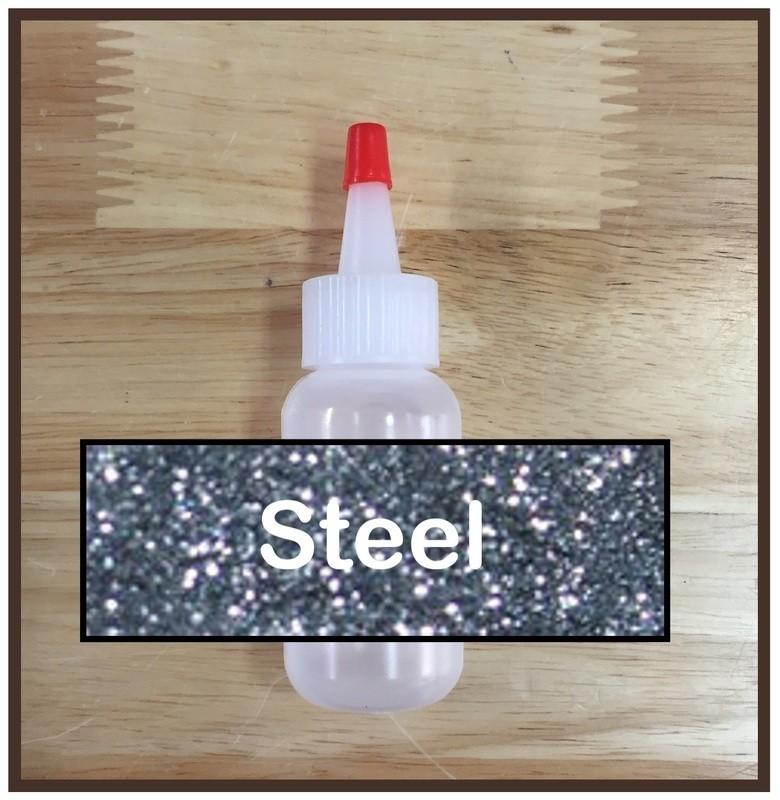 Steel Glitter Poof