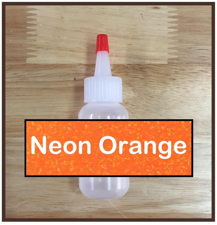Neon Orange Glitter Poof