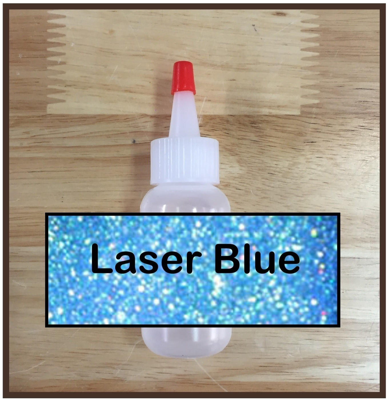 Laser Blue Glitter Poof