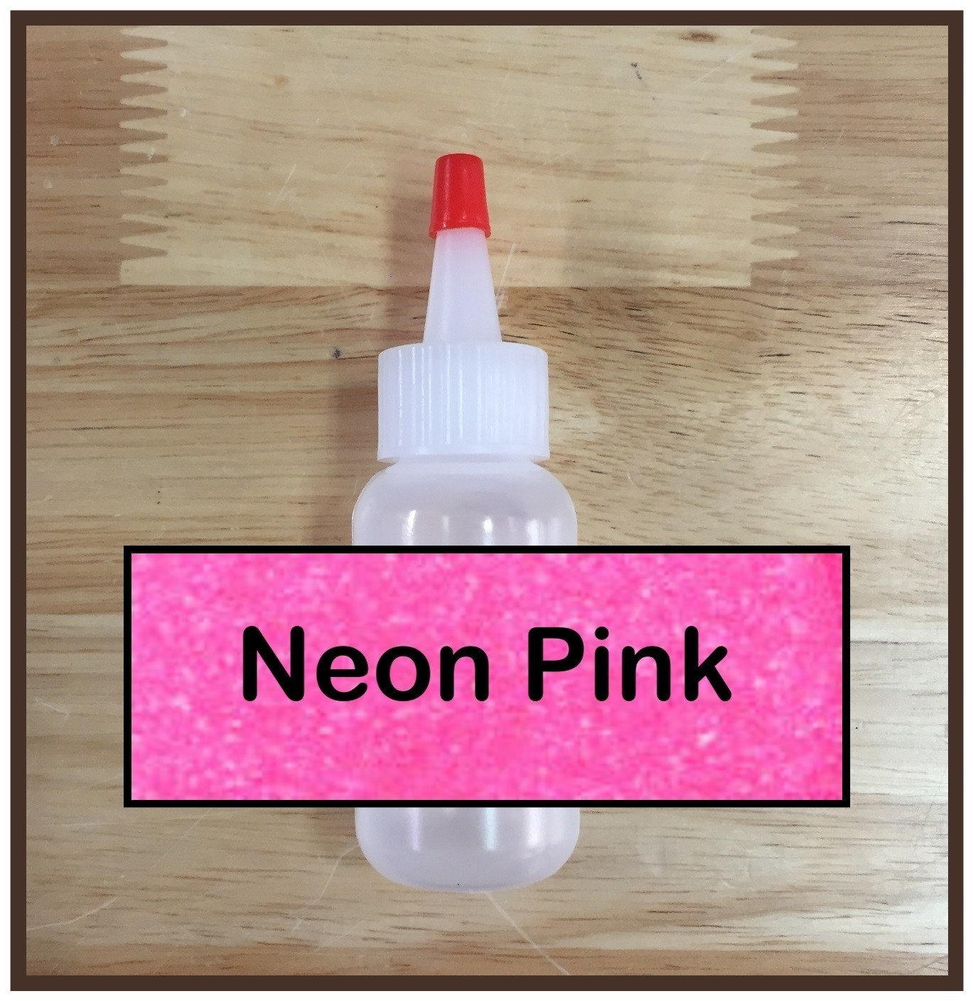 Neon Pink Glitter Poof