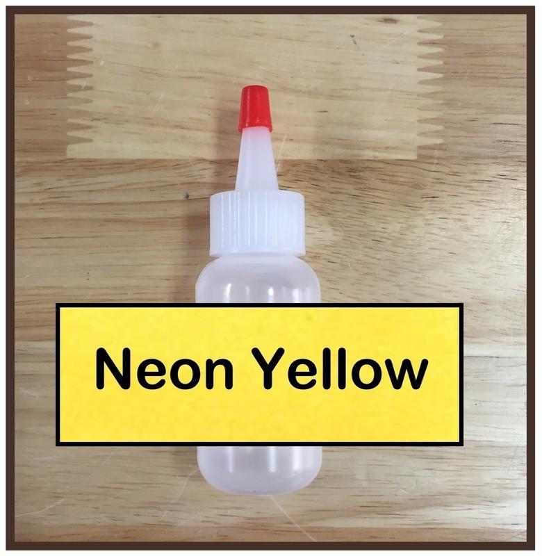 Neon Yellow Glitter Poof