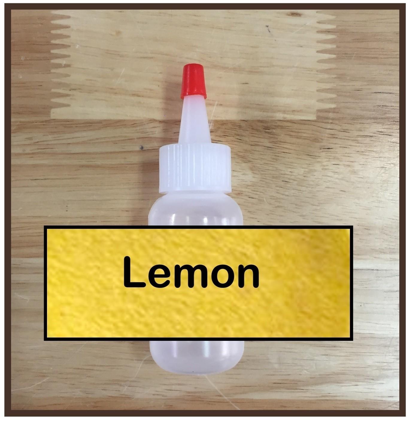 Lemon Glitter Poof