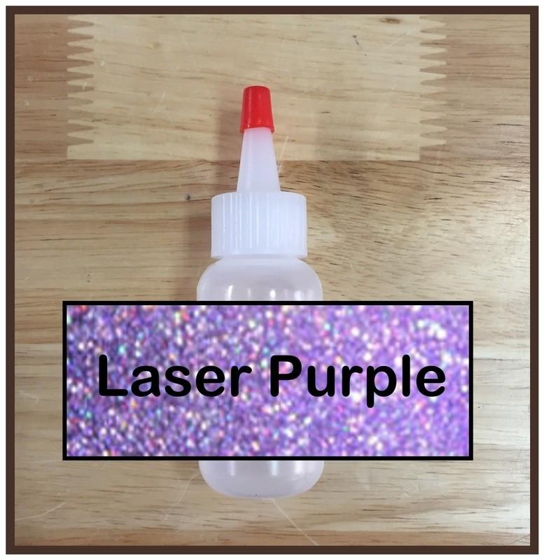 Laser Purple Glitter Poof