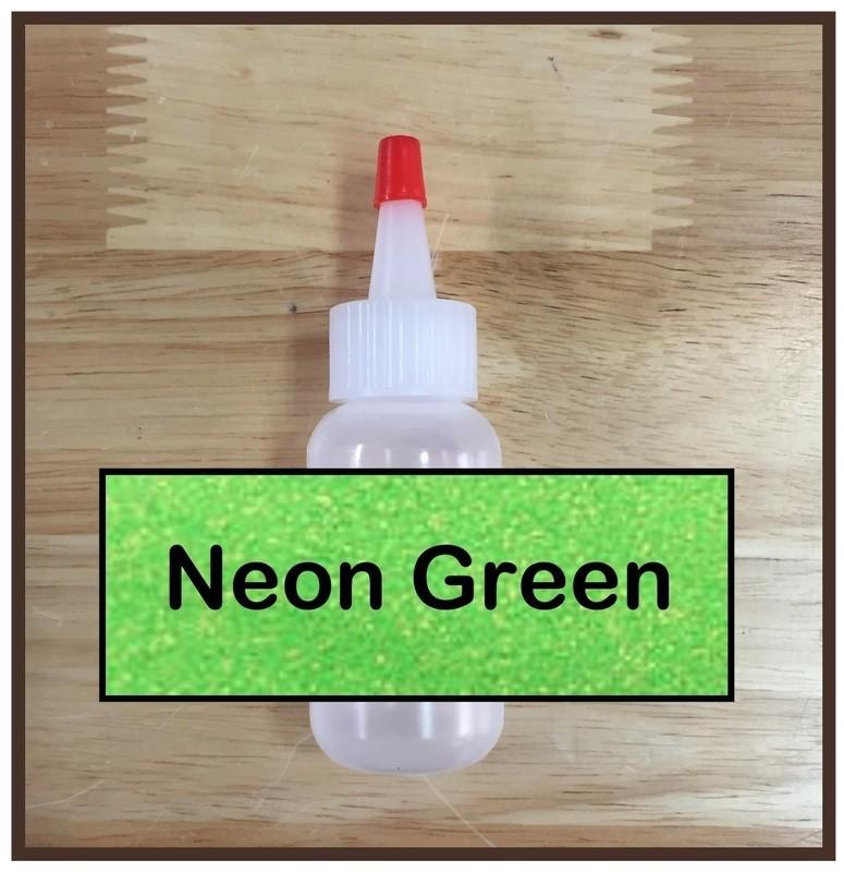 Neon Green Glitter Poof