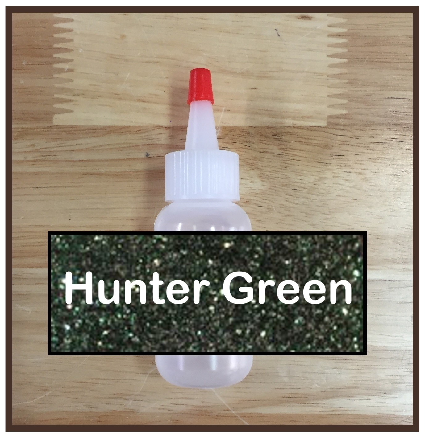 Hunter Green Glitter Poof