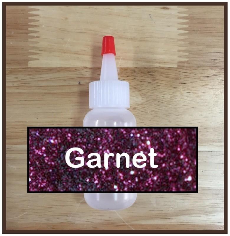 Garnet Glitter Poof