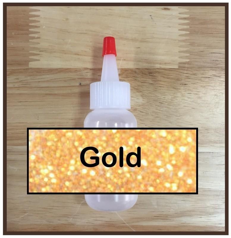 Gold Glitter Poof