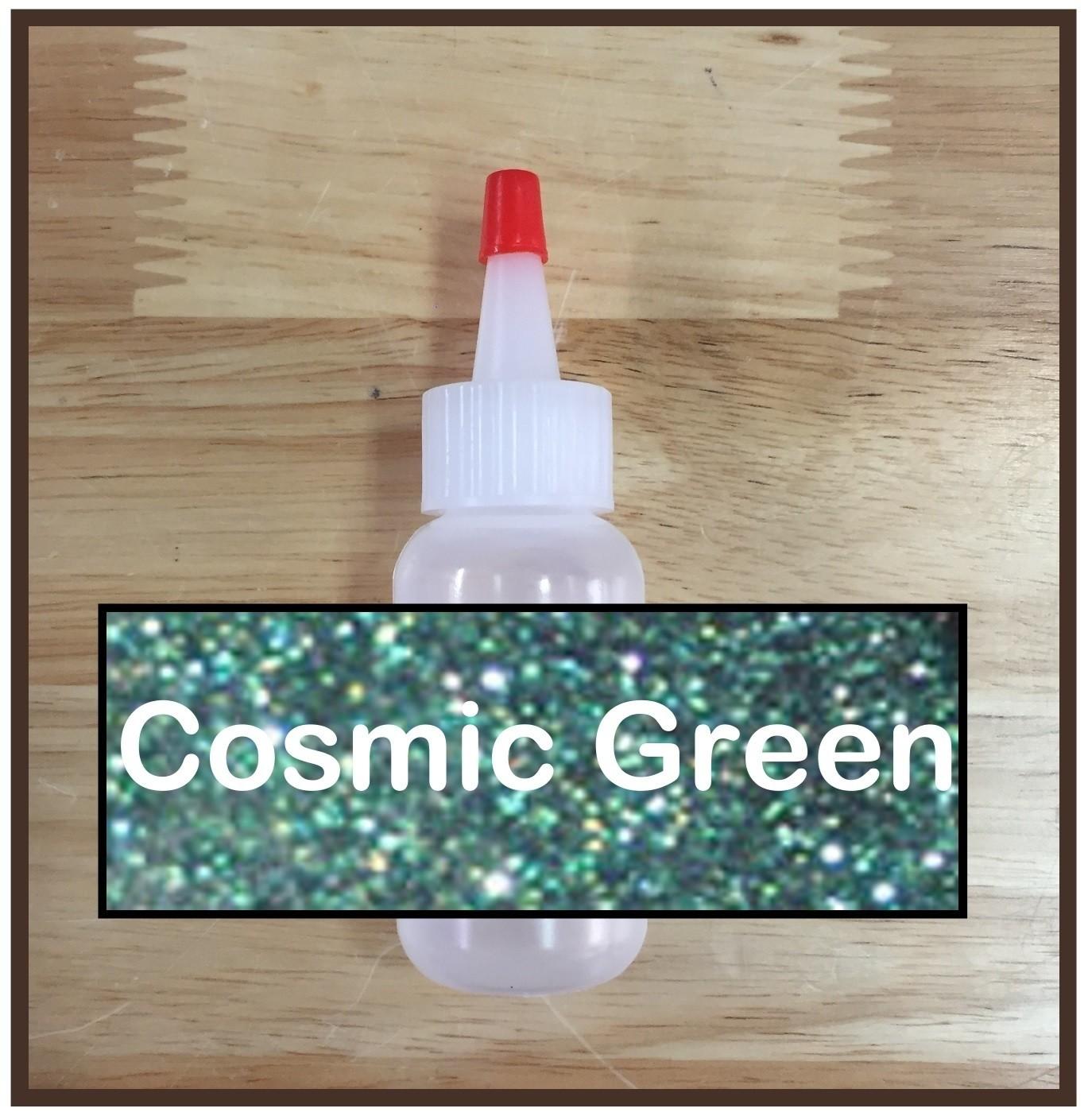 Cosmic Green Glitter Poof