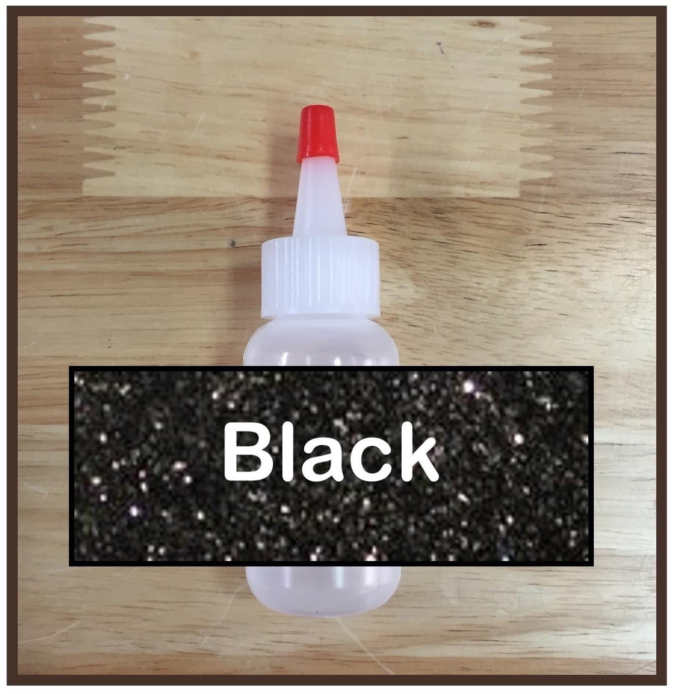 Black Glitter Poof