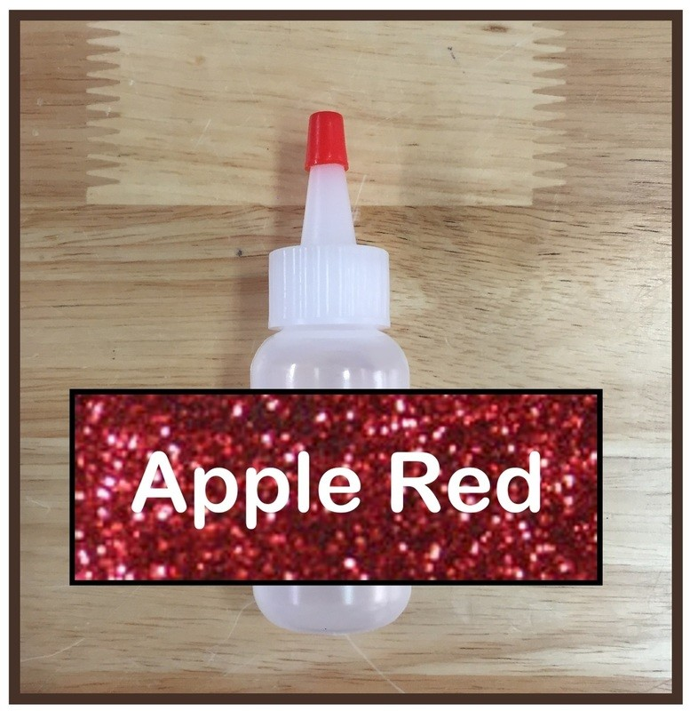 Apple Red Glitter Poof