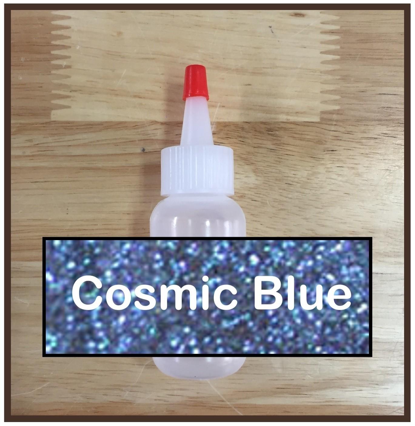 Cosmic Blue Glitter Poof