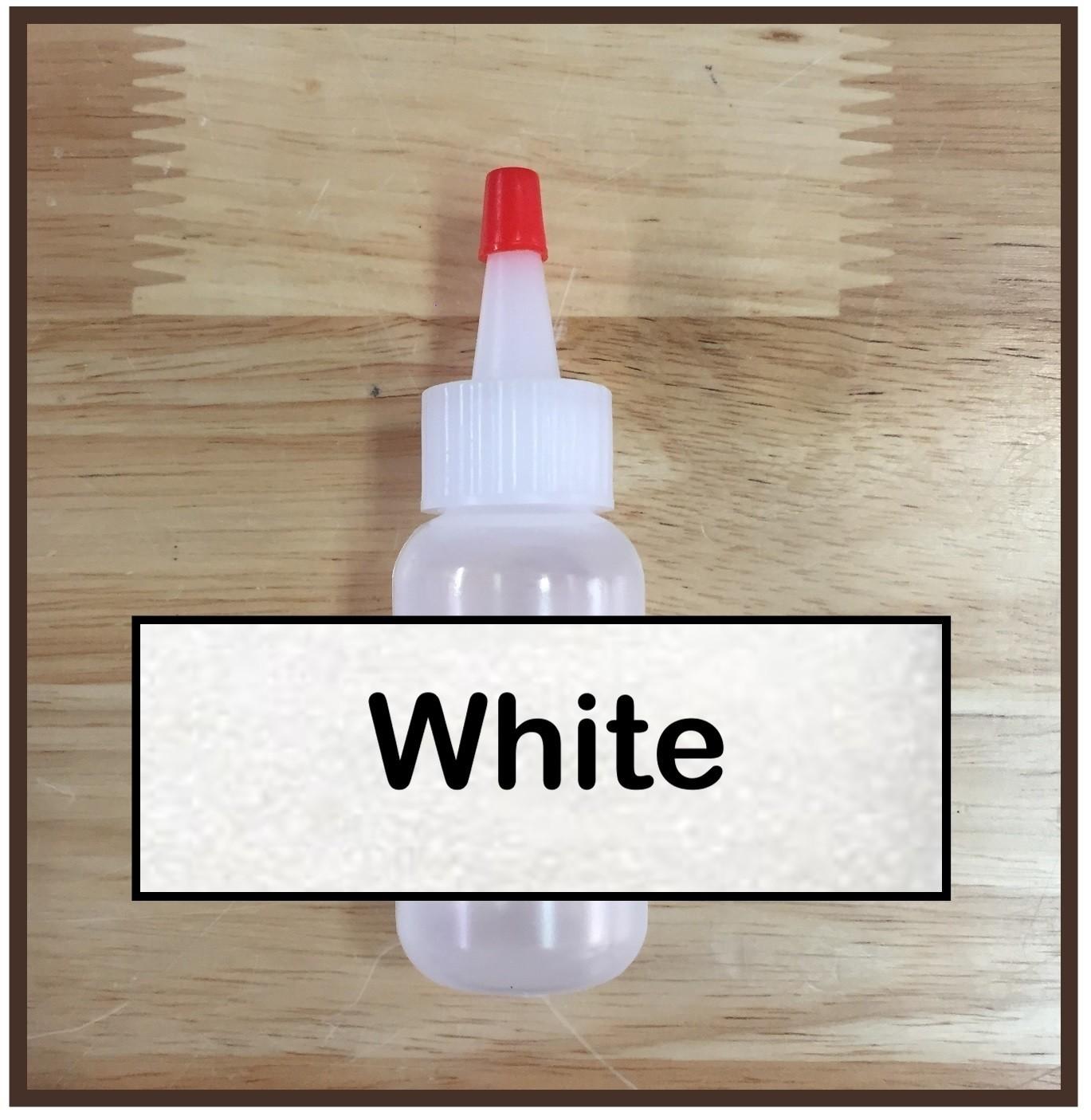 White Glitter Poof