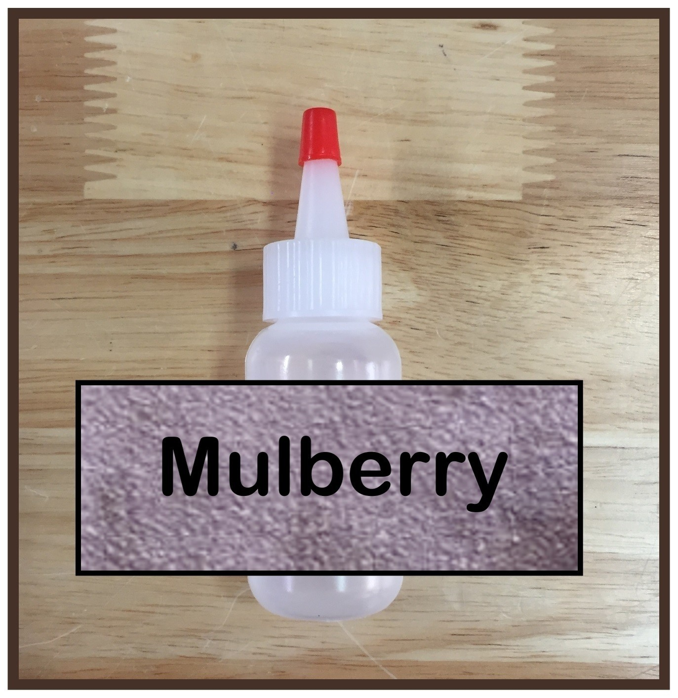 Mulberry Glitter Poof