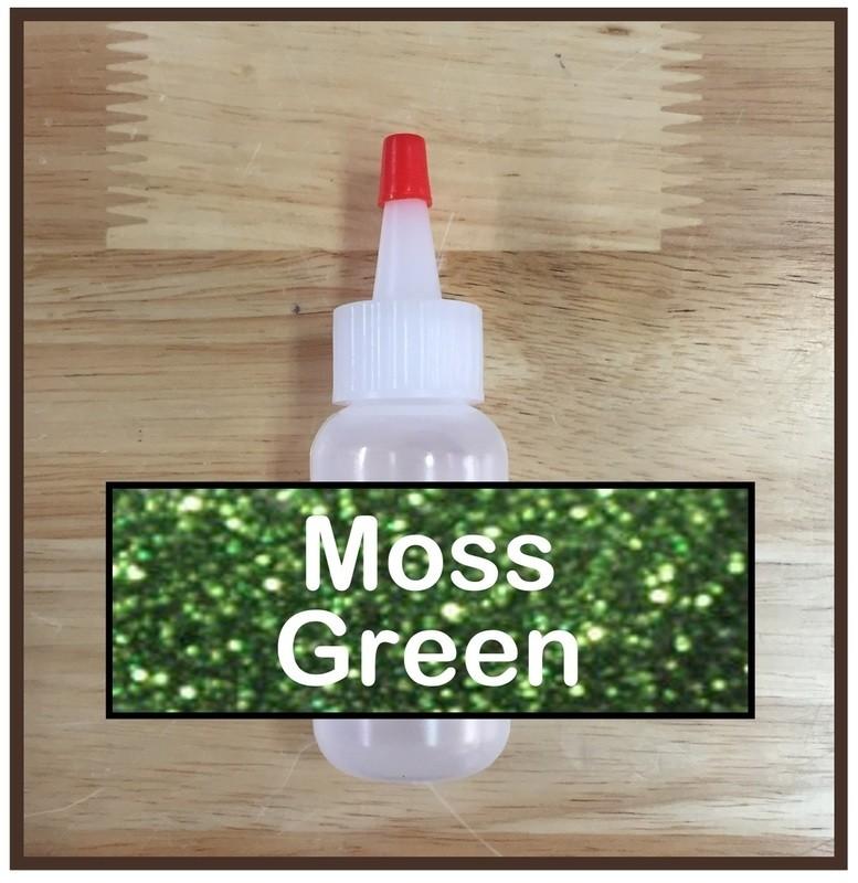 Moss Green Glitter Poof