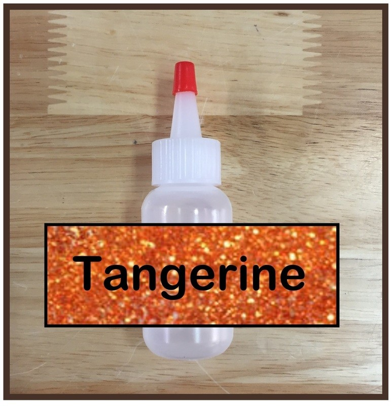 Tangerine Glitter Poof