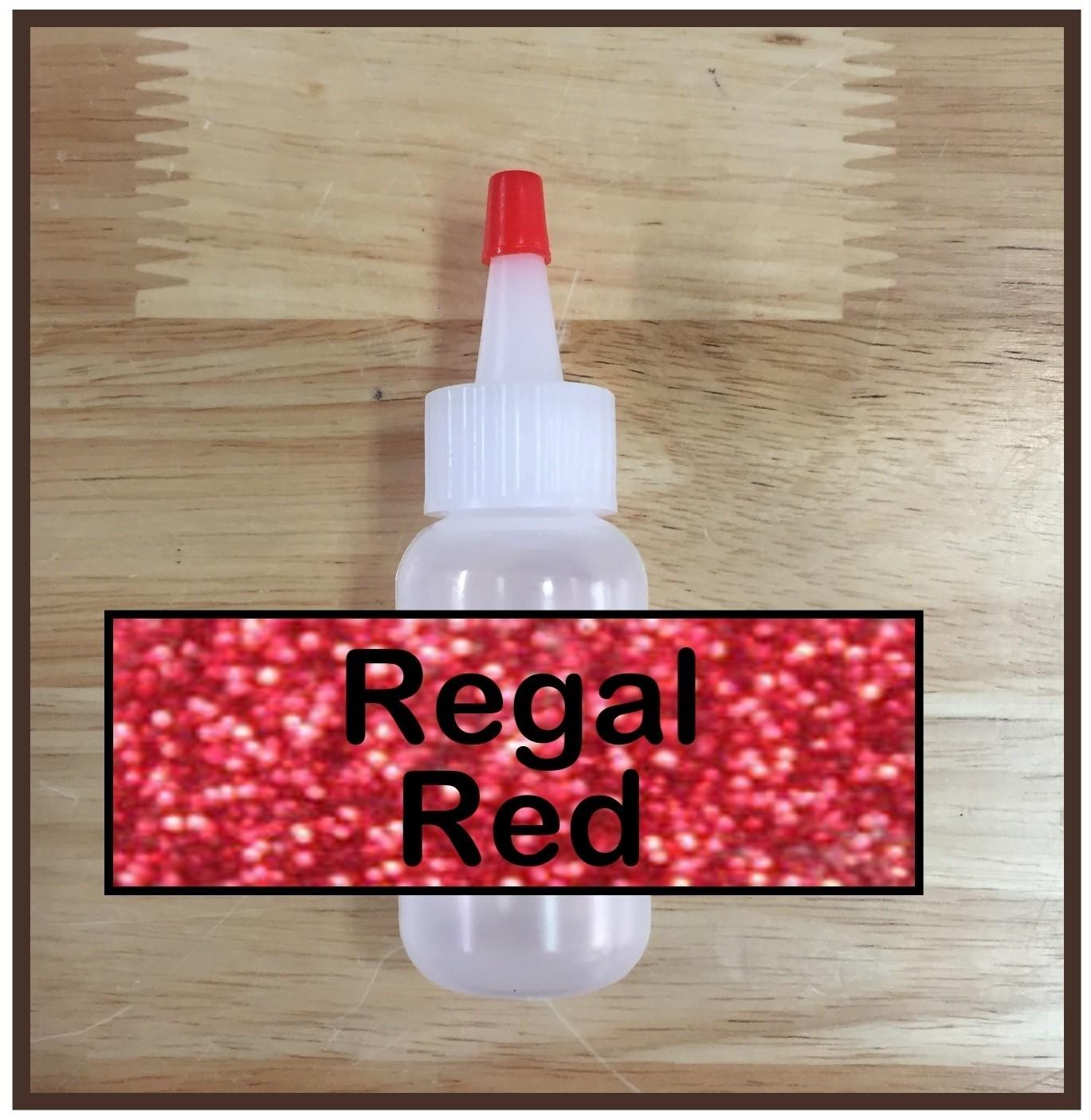 Regal Red Glitter Poof