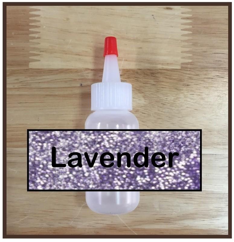 Lavender Glitter Poof
