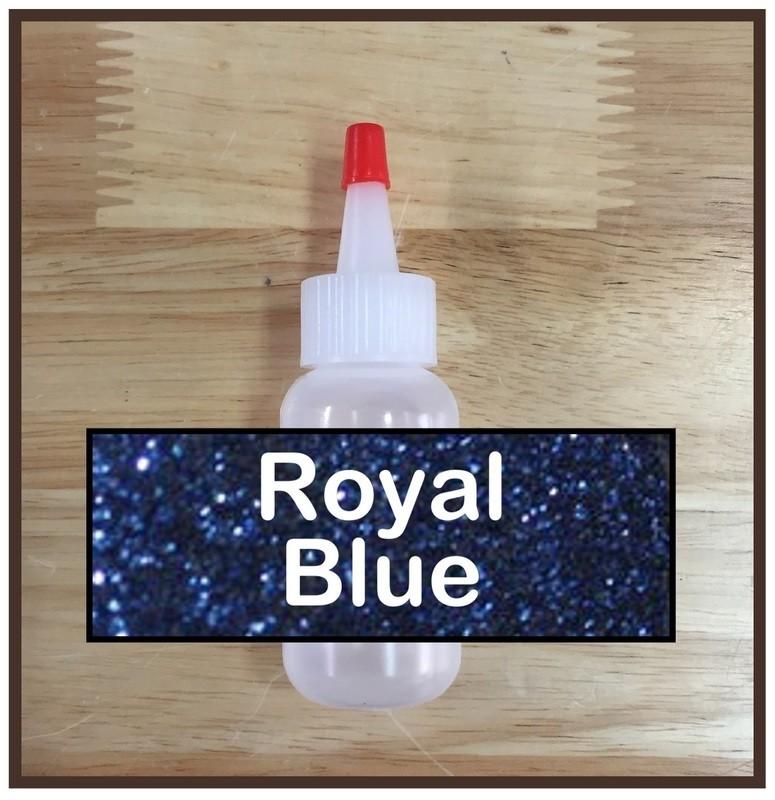 Royal Blue Glitter Poof