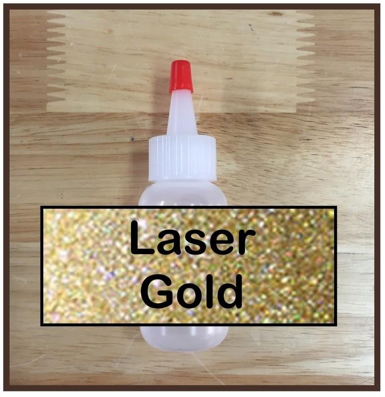 Laser Gold Glitter Poof