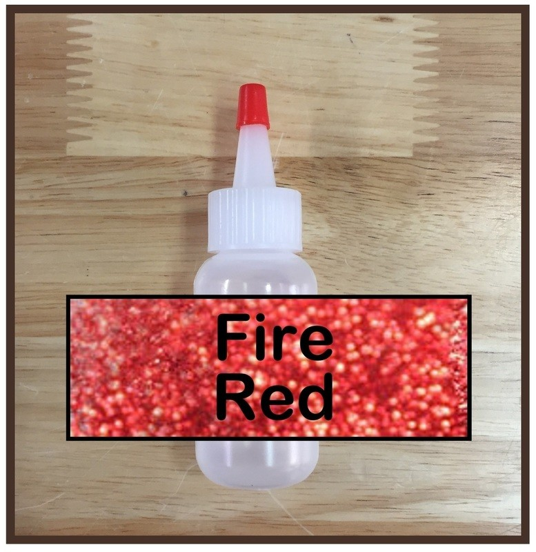 Fire Red Glitter Poof