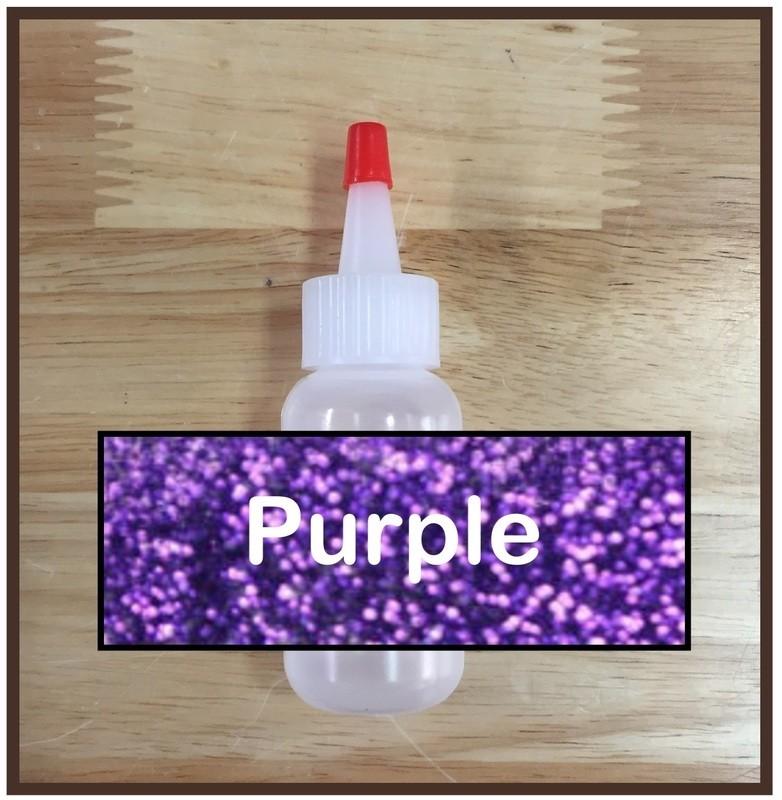 Purple Glitter Poof