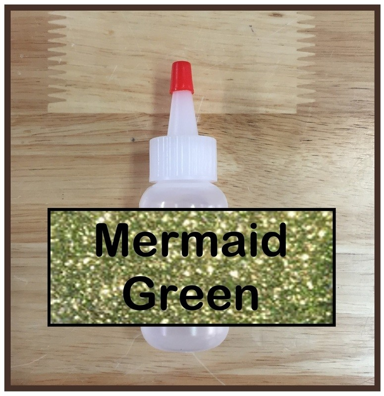 Mermaid Green Glitter Poof