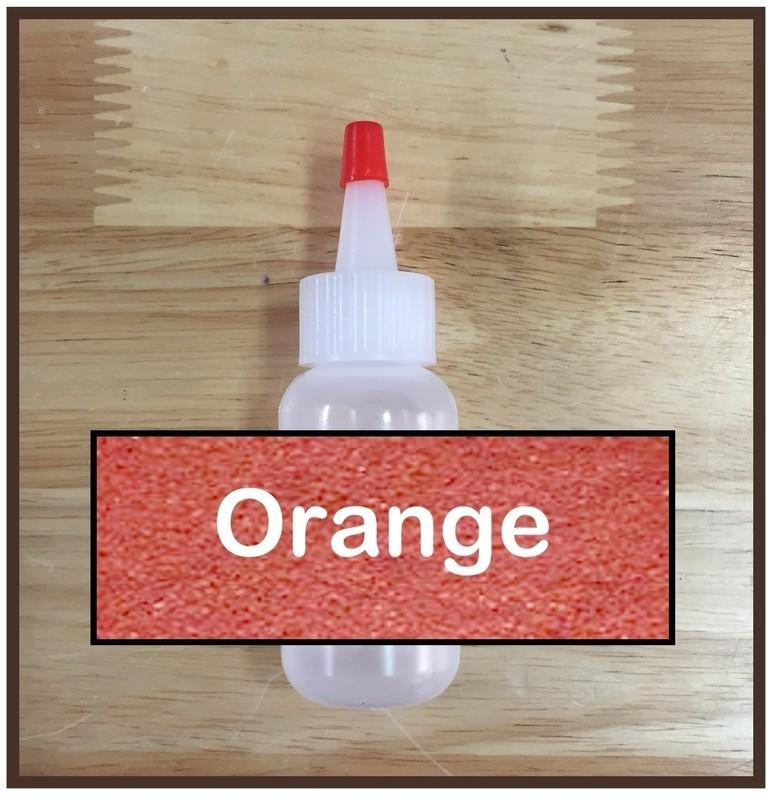 Orange Glitter Poof