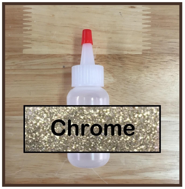 Chrome Glitter Poof