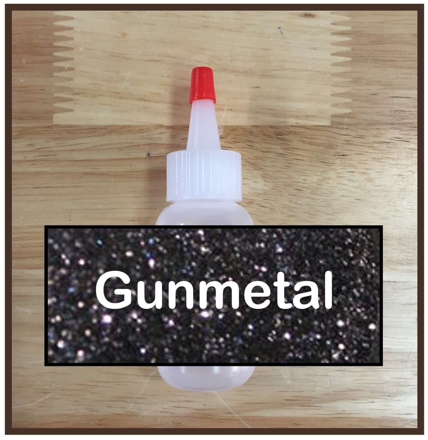 Gunmetal Glitter Poof